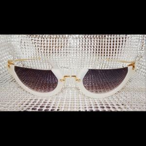 White & Gold Vintage half-cut shades.